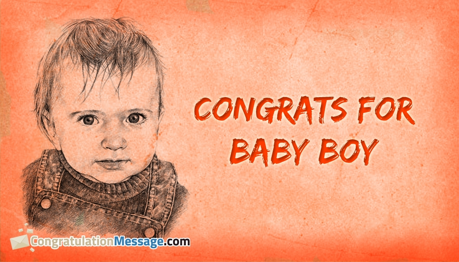 Congratulations Messages For Baby Boy On Images