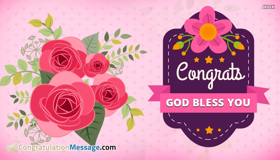 Congrats God Bless You - Congratulation Message for Son