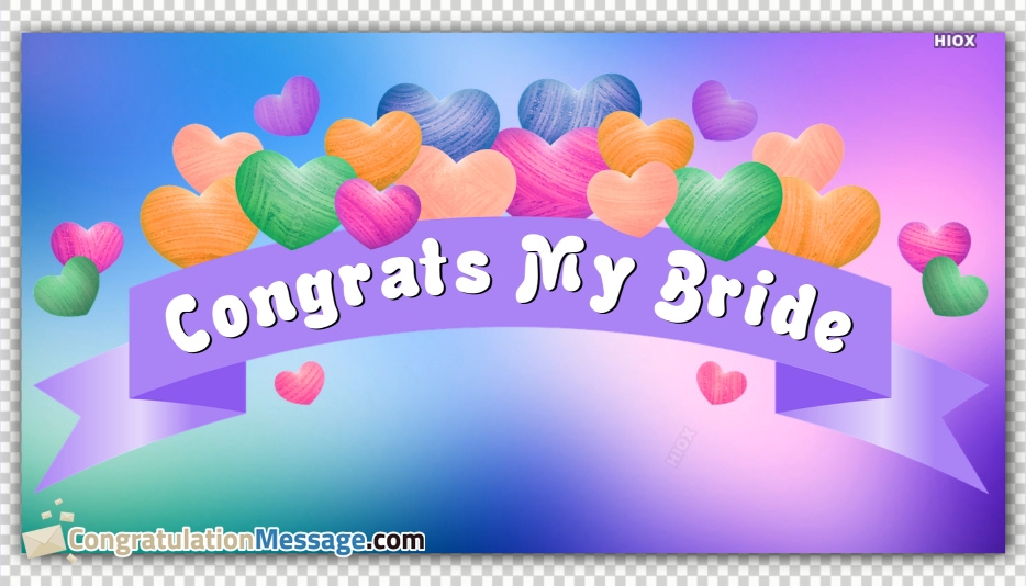 Congratulation Messages for Bride