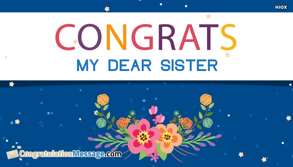 congratulations my dear sister images