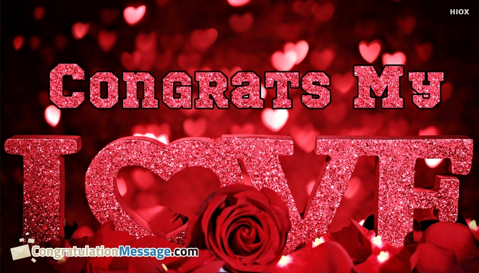 congratulations messages for love with roses