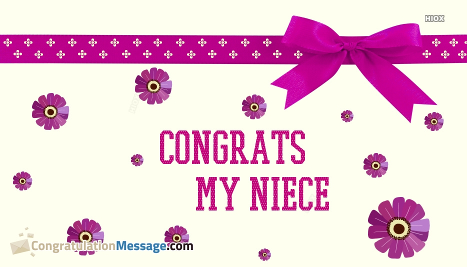 Congratulations Messages For Niece