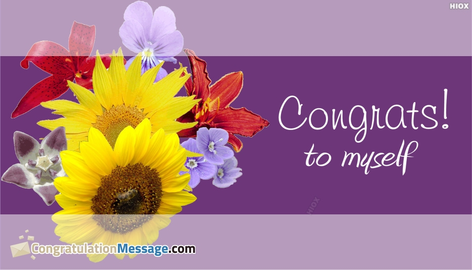 Congratulation Messages for Myself