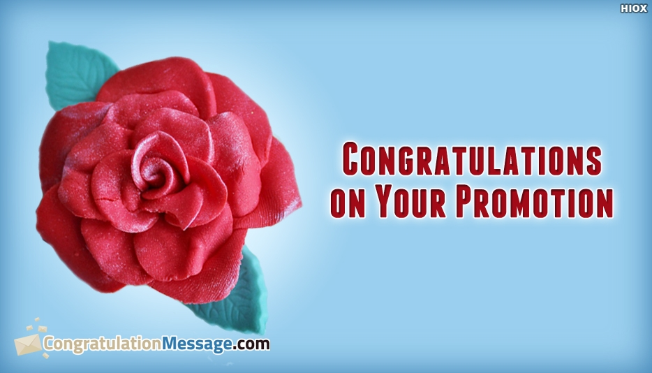 Congratulation Message For Boss Promotion - Congratulations On Your Promotion