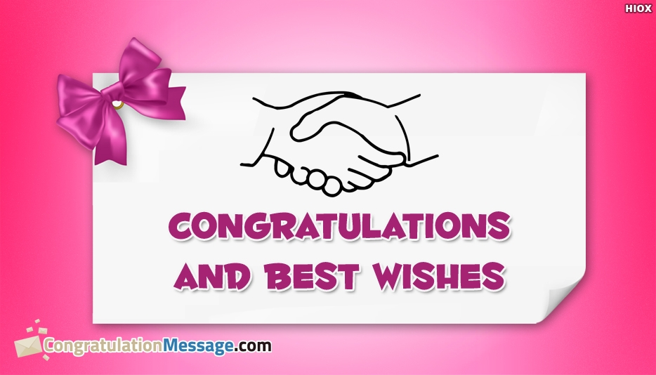Congratulations and Best Wishes - Congratulation Messages for Appointment