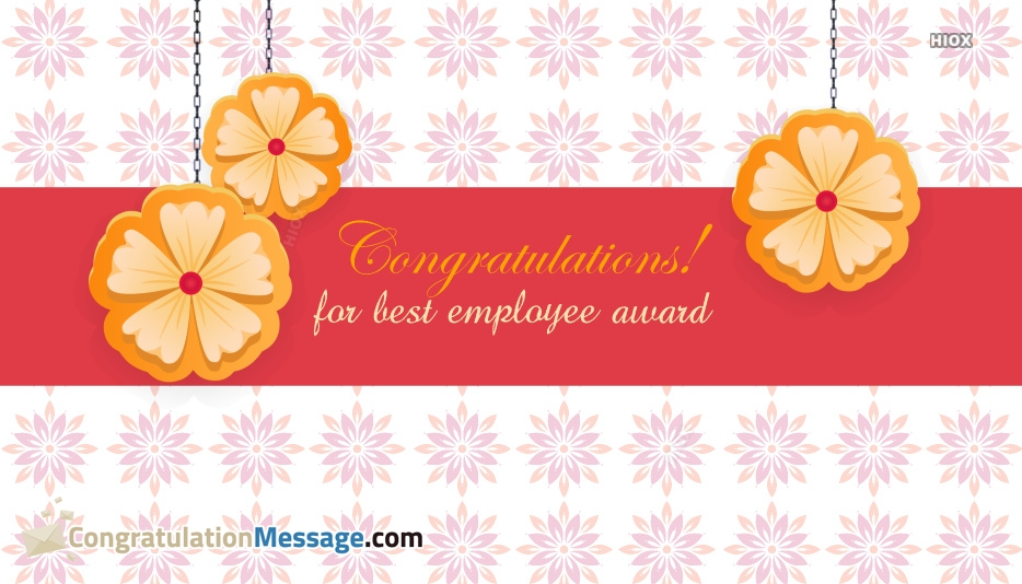 Congratulations For Best Employee Award