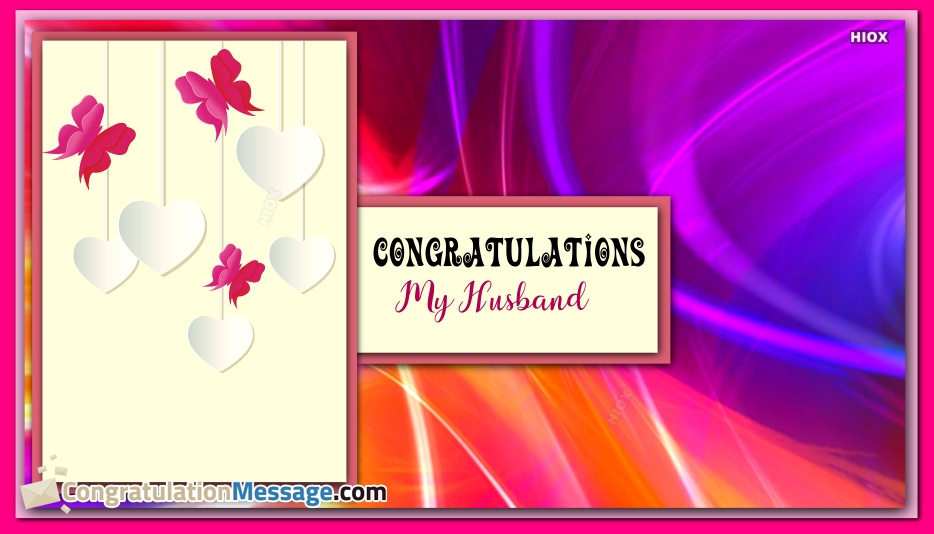 Congratulations For Husband