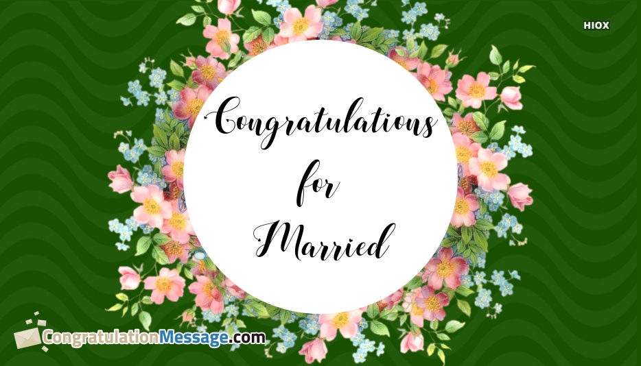 Congratulations For Married
