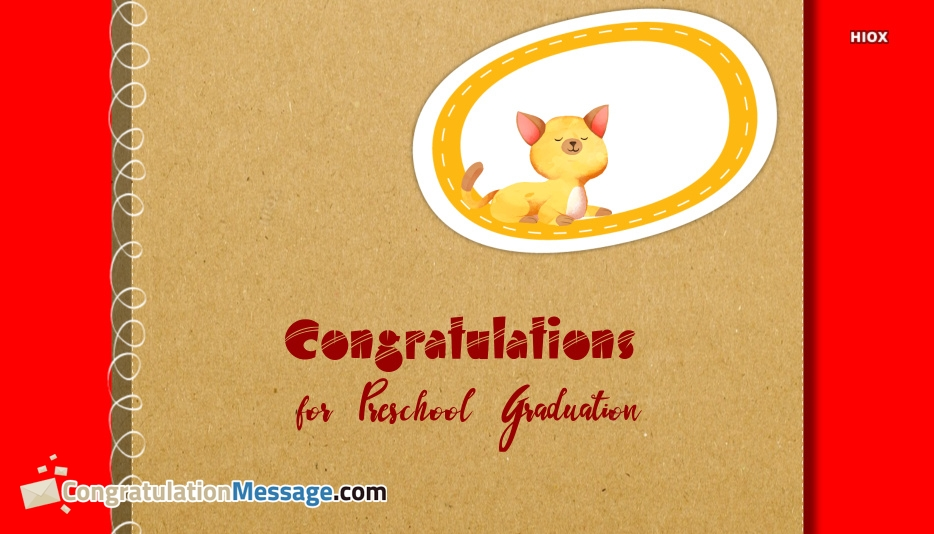 Congratulations For Preschool Graduation