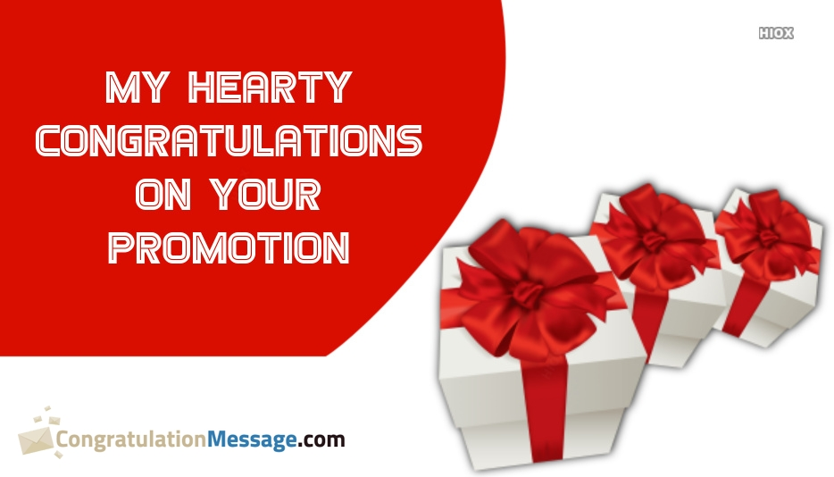 Congratulations For Promotion Card