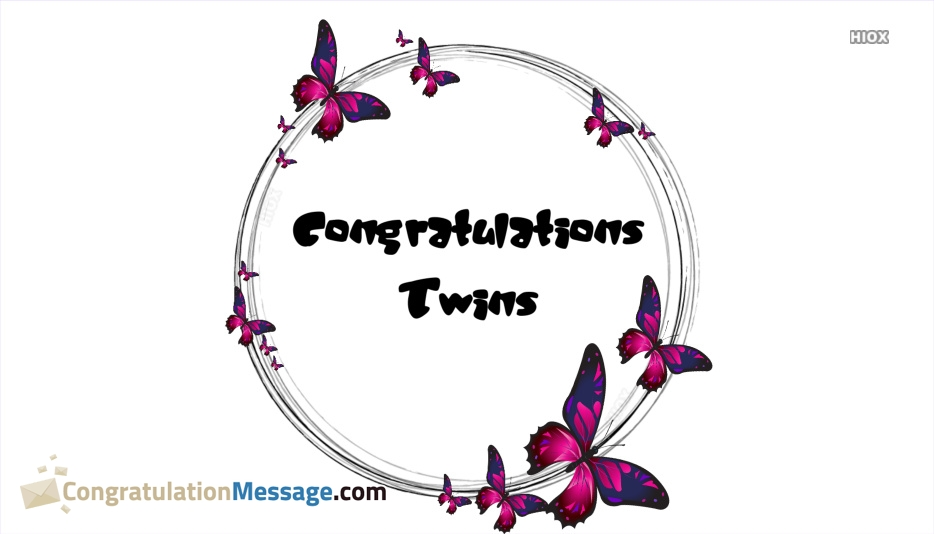 Congratulation Messages for Twins