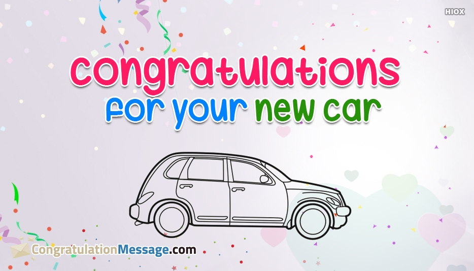 Congratulation Messages for New Car