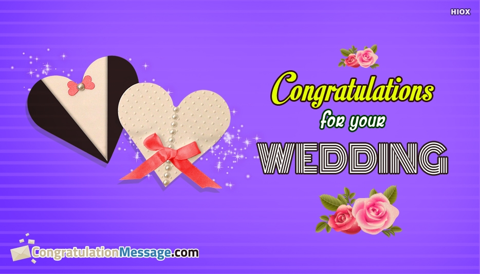 Congratulation Messages For Married Couples