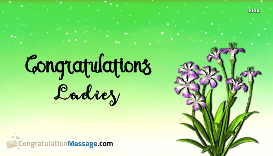 congratulations ladies images