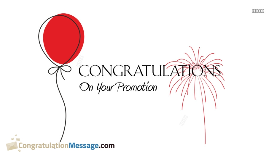 Congratulations On Promotion Email To Staff