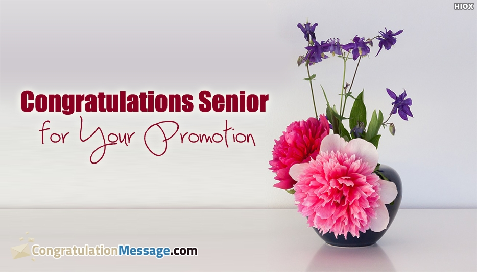 Congratulations On Promotion To Senior - Congratulations Senior For Your Promotion