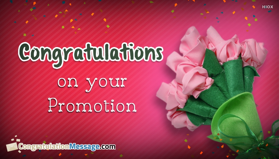 Congratulations On Your Promotion - Congratulation Messages for Promotion