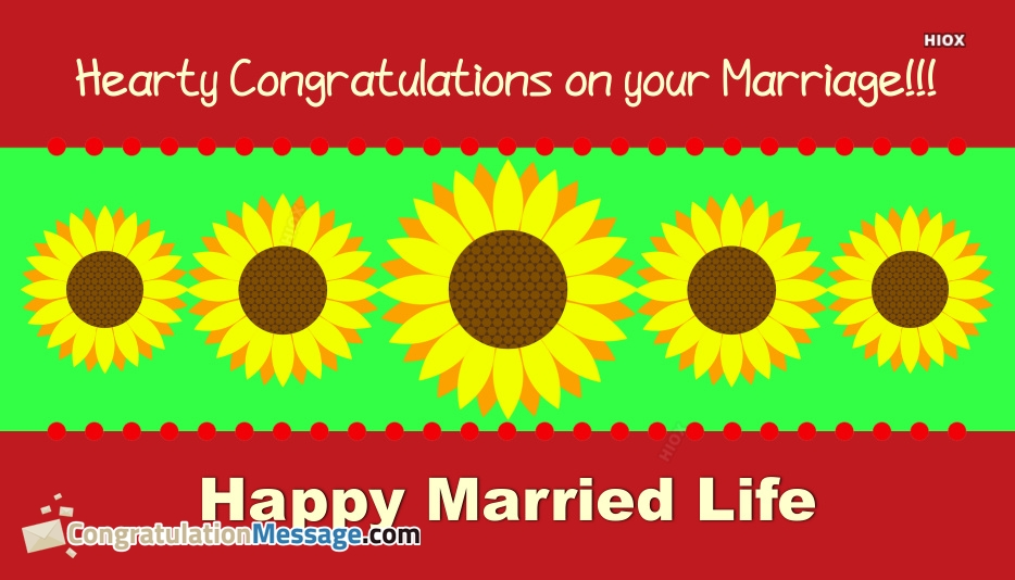 Congratulation Messages for Marriage