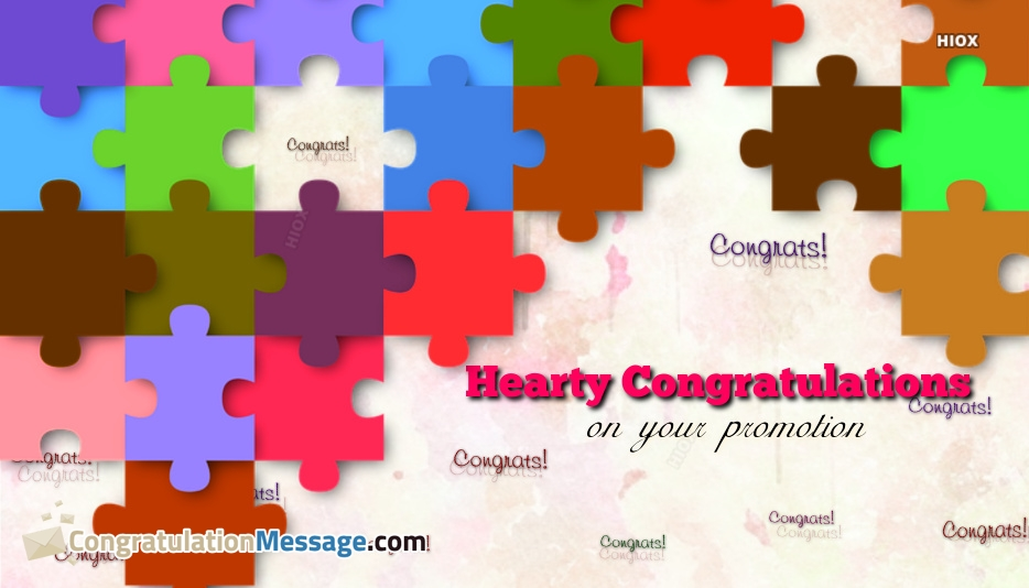 Hearty Congratulations On Your Promotion Message