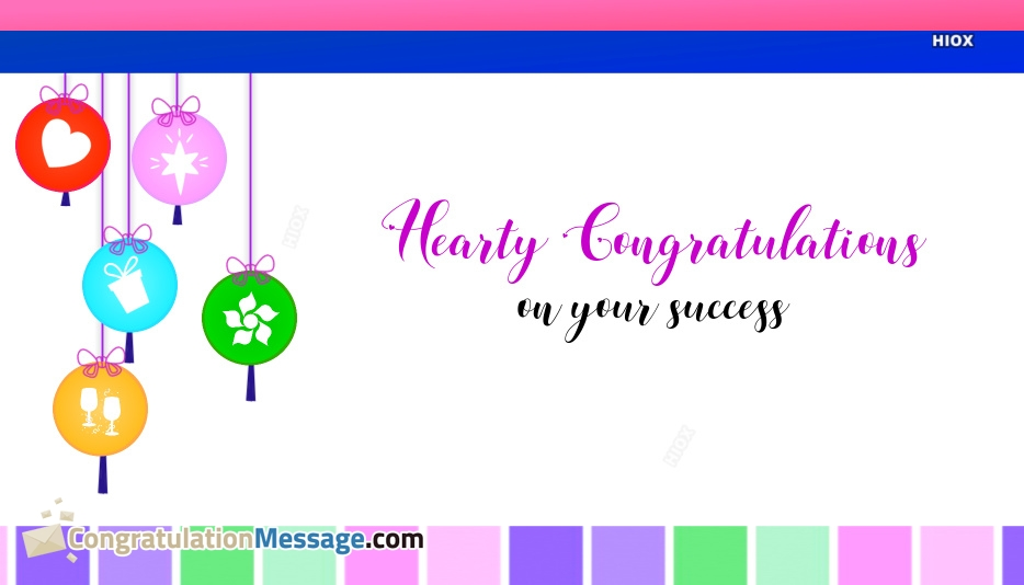 Hearty Congratulations Images, Messages