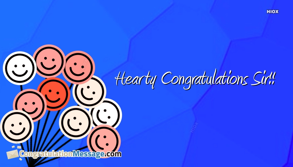 Congratulations With Smiley Faces, Emoticons