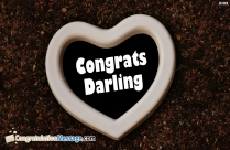 Congratulations For Sweet Heart