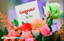 Congrats My Bro Message