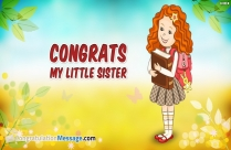 Congratulation Messages for Sister