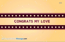 Congrats My Love Image