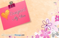 Congrats My Love Images