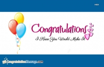 Congrats My Love Message