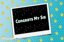 Congrats My Sweet Sister