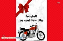 Congrats On Your New Bike