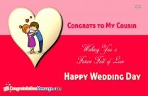 Wedding Congratulations Message to Cousin