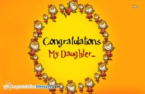 Congratulations My Daughter Images