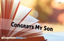 Congrats to My Son Quotes