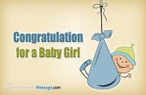 Congratulation Message For Baby Girl