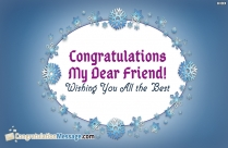 Beautiful Congratulation Message for Friend
