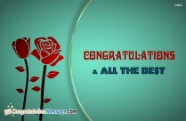 Congratulations And All The Best