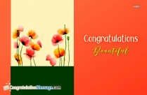 Congratulations Beautiful Image