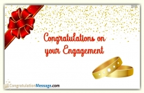 Congratulations For Engagement Status