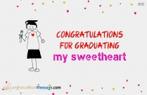 Congratulations For Graduating My Sweetheart