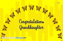 Congratulations For Granddaughter