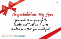 congratulations message for loved ones