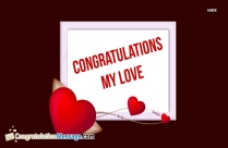 Congratulations My Love Heart