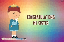 congratulations sister images