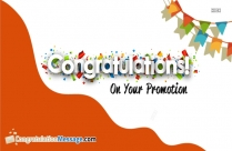 Congratulations Mail for Promotion
