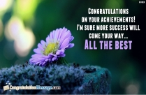 Congratulations On Your Achievements! I