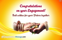 Congratulations On Your Engagement! Best Wishes