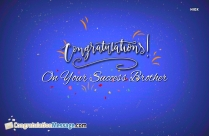 Hearty Congratulations On Your Success
